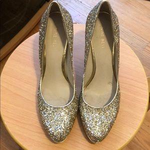 Nine West gold shoes